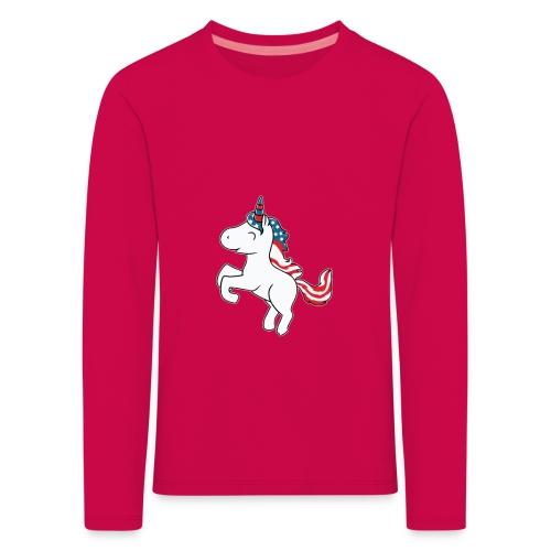 Einhorn - Kinder Premium Langarmshirt