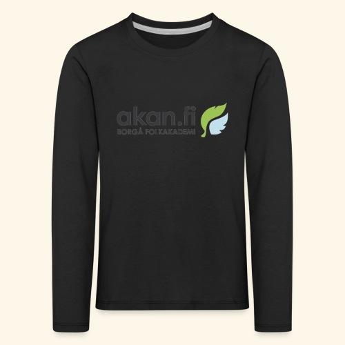 Akan Black - Lasten premium pitkähihainen t-paita