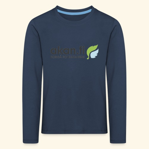 Akan Black - Långärmad premium-T-shirt barn