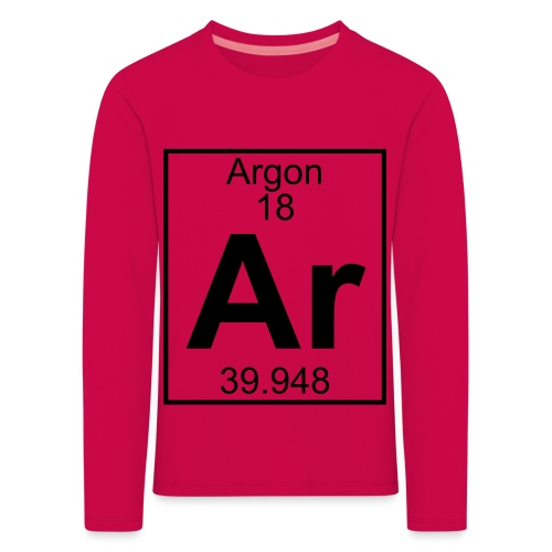 Argon (Ar) (element 18) - Kids' Premium Longsleeve Shirt