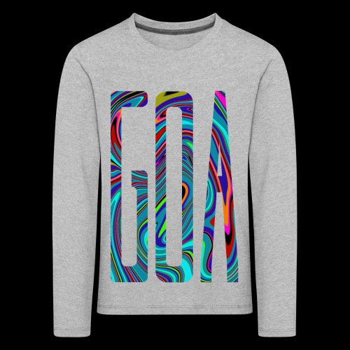 Goa Batik Style Shirt Design - Kinder Premium Langarmshirt