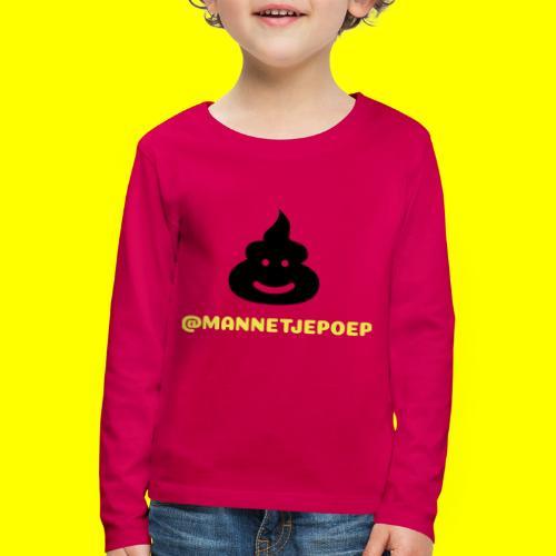 Mannetje Poep Shit - Kinderen Premium shirt met lange mouwen