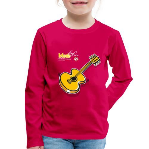 MusicForFun - dunkler Hintergrund - Kinder Premium Langarmshirt