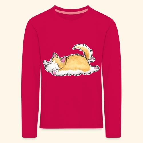 Corgi (liegend) - Kinder Premium Langarmshirt
