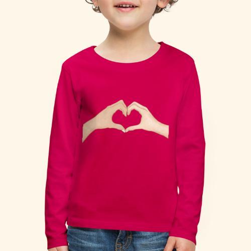 Mains Coeur Amour - Love hands - T-shirt manches longues Premium Enfant