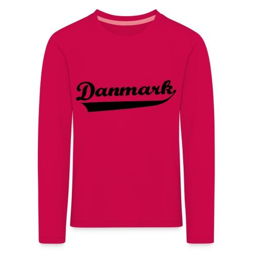 Danmark Swish - Børne premium T-shirt med lange ærmer