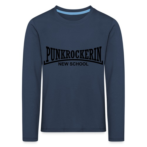 punkrockerin new school - Kinder Premium Langarmshirt
