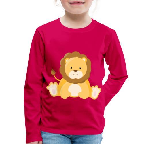 SAFARI Löwe - Kinder Premium Langarmshirt