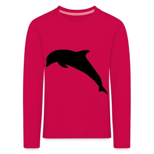 Delfin springend - Kinder Premium Langarmshirt
