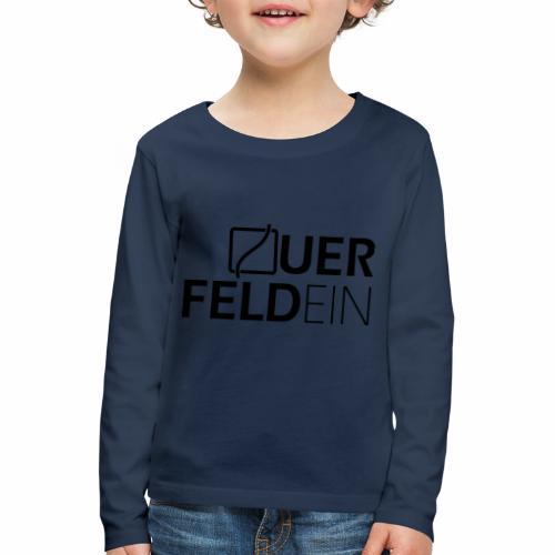 Querfeldein Logo - Kinder Premium Langarmshirt