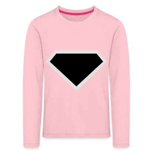 Diamond Black - Two colors customizable - Kinderen Premium shirt met lange mouwen