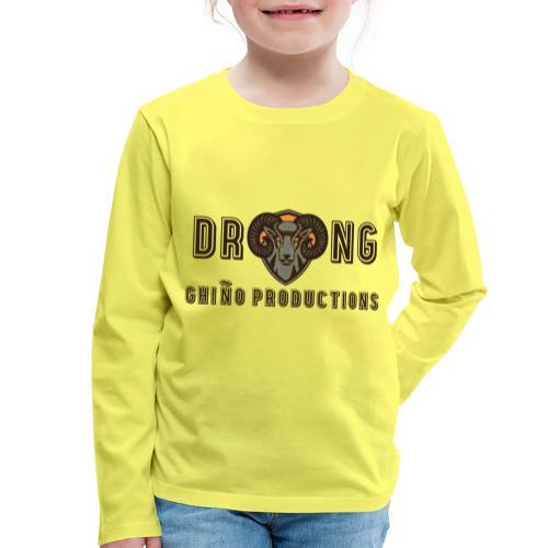 DRONG - Maglietta Premium a manica lunga per bambini