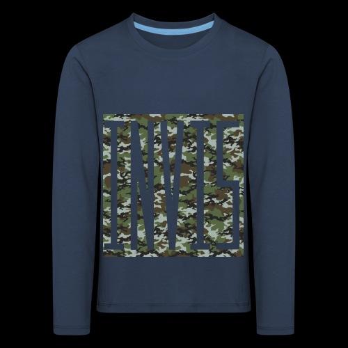 INVIS Camouflage - Kinder Premium Langarmshirt