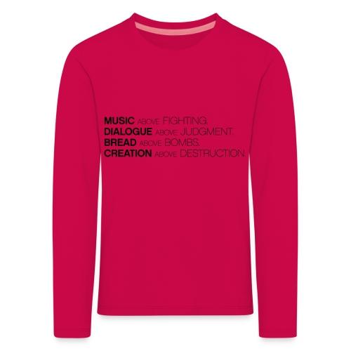slogan png - Kinderen Premium shirt met lange mouwen