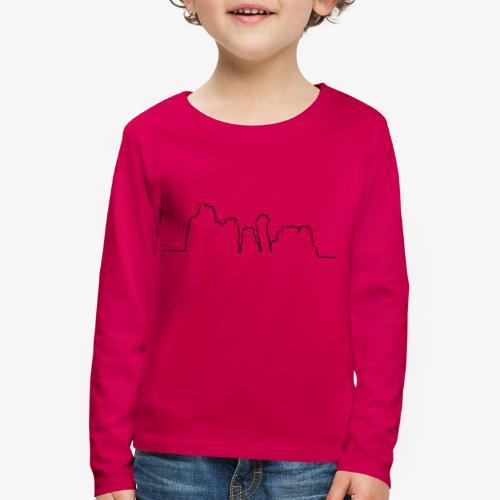 Kontur der Externsteine - Kinder Premium Langarmshirt