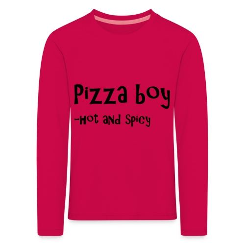Pizza boy - Premium langermet T-skjorte for barn