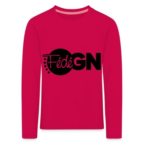 Logo FédéGN pantone - T-shirt manches longues Premium Enfant