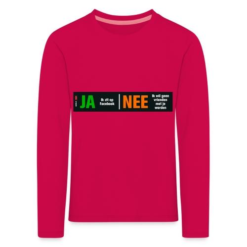 facebookvrienden - Kinderen Premium shirt met lange mouwen