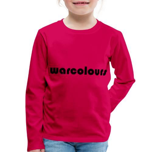 warcolours logo - Kids' Premium Longsleeve Shirt