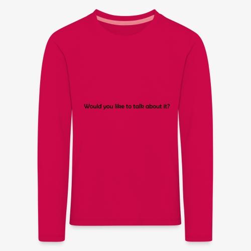 talk - Koszulka dziecięca Premium z długim rękawem