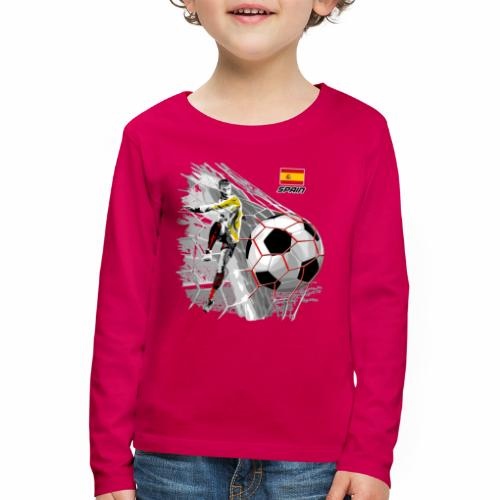 FP22F 02 SPAIN FOOTBALL - Lasten premium pitkähihainen t-paita