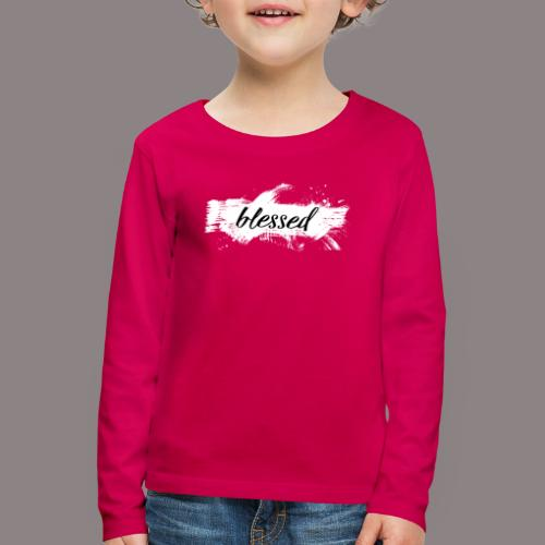blessed spot ladies weiss - Kinder Premium Langarmshirt