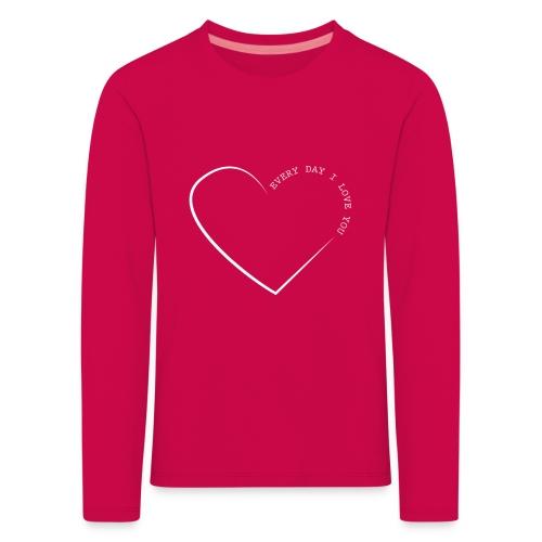 LOVE white png - Kids' Premium Longsleeve Shirt