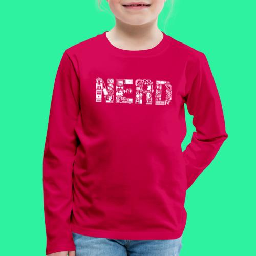 Nerd - Kinder Premium Langarmshirt