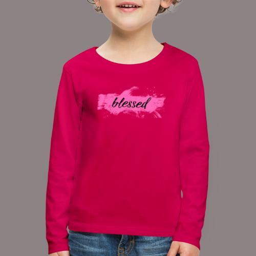 blessed spot pink - Kinder Premium Langarmshirt
