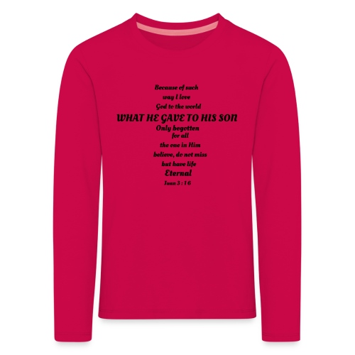 San Juan 3:16 - Camiseta de manga larga premium niño