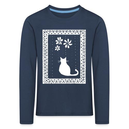 Poetic Kitty Cat by BlackenedMoonArts - Børne premium T-shirt med lange ærmer