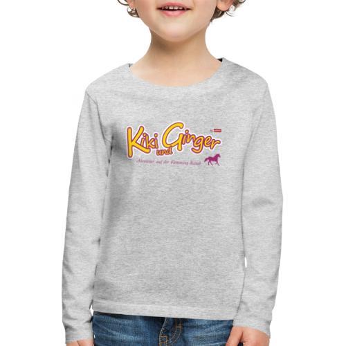 patame Kiki und Ginger Logo mit Pferd - Kinder Premium Langarmshirt