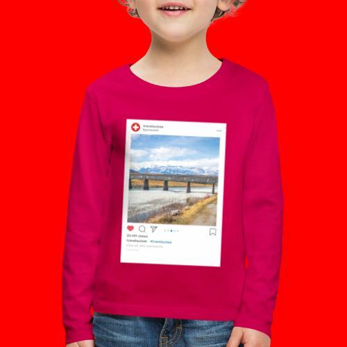 travelsuisse - Bruecke Vaduz - Kinder Premium Langarmshirt