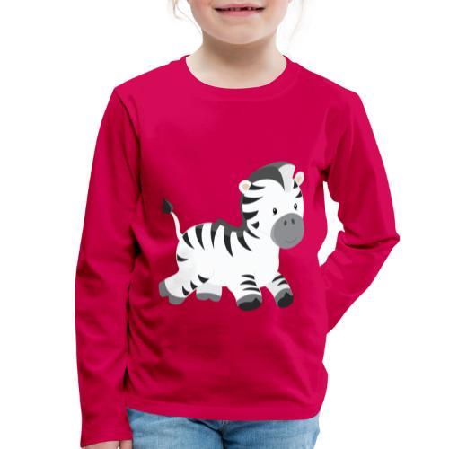 Zebra - Kinder Premium Langarmshirt