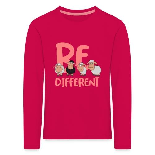 Be different pinke Schafe - Einzigartige Schafe - Kinder Premium Langarmshirt