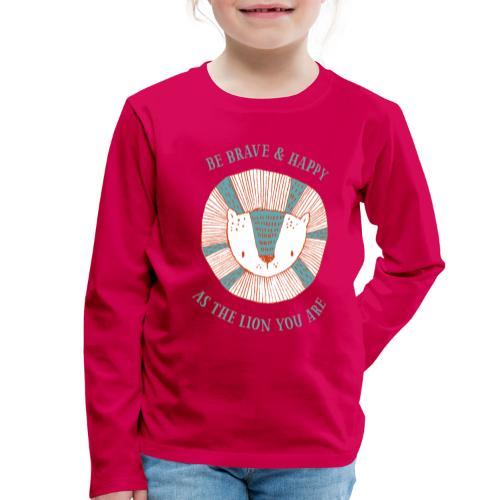 Brave lion - Kids' Premium Longsleeve Shirt