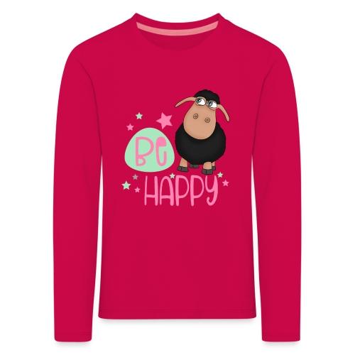 Schwarzes Schaf - be happy Schaf Glückliches Schaf - Kinder Premium Langarmshirt