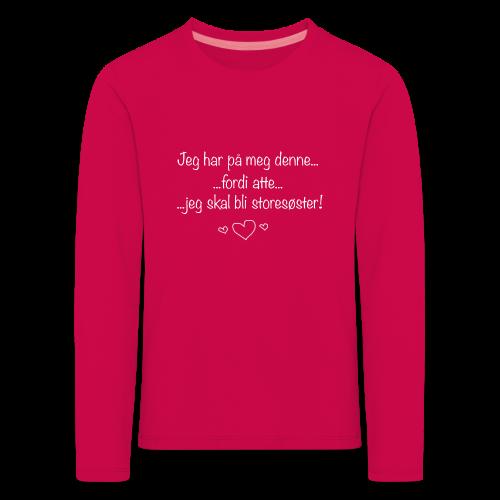 Storesøster Collection - Premium langermet T-skjorte for barn