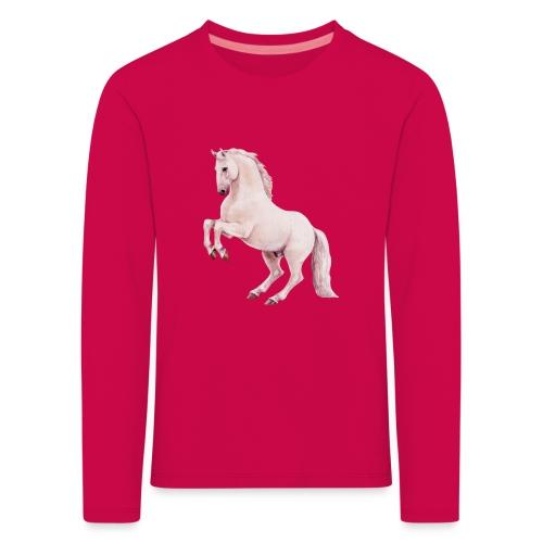White stallion - Kinder Premium Langarmshirt