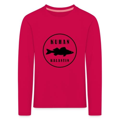 Kuhan kalastin - Lasten premium pitkähihainen t-paita