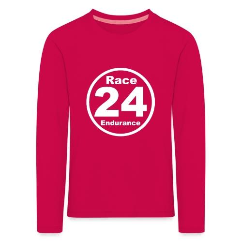 Race24 round logo white - Kids' Premium Longsleeve Shirt