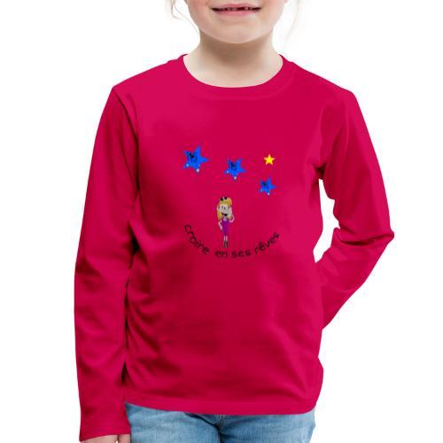 La tête dans les étoiles - T-shirt manches longues Premium Enfant