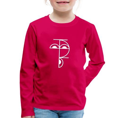 XP Logo retro weiss - Kinder Premium Langarmshirt