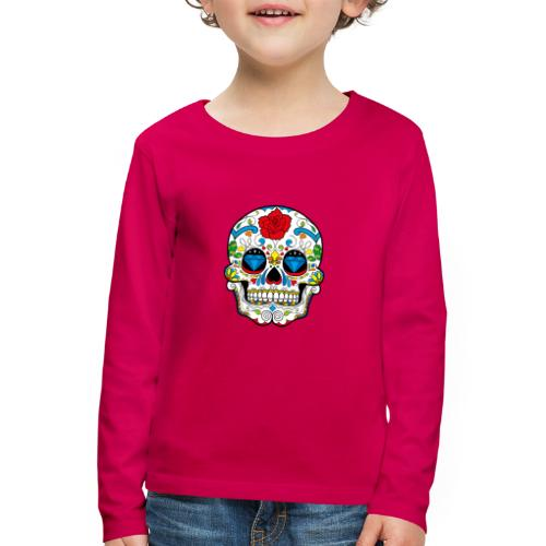skull2 - Maglietta Premium a manica lunga per bambini