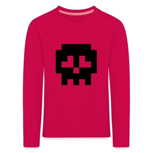 Retro Gaming Skull - Kids' Premium Longsleeve Shirt