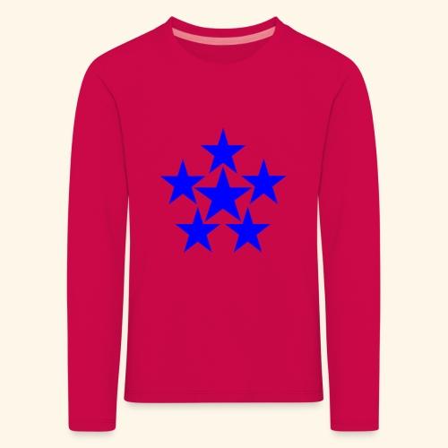 5 STAR blau - Kinder Premium Langarmshirt