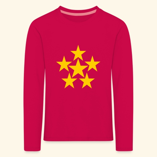 5 STERN gelb - Kinder Premium Langarmshirt