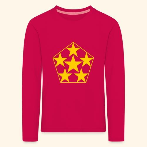 5 STAR gelb - Kinder Premium Langarmshirt