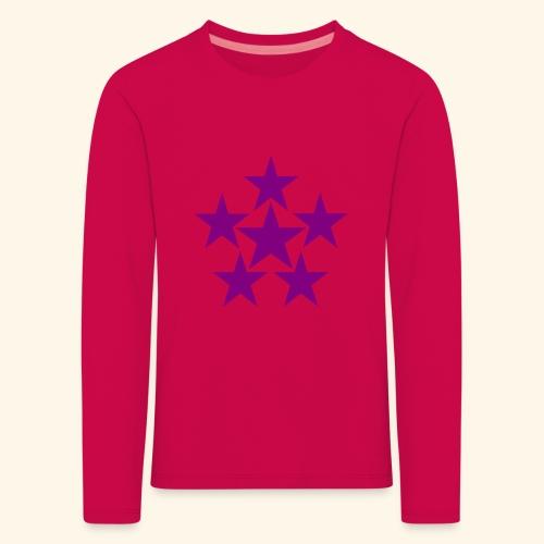 5 STAR lilla - Kinder Premium Langarmshirt