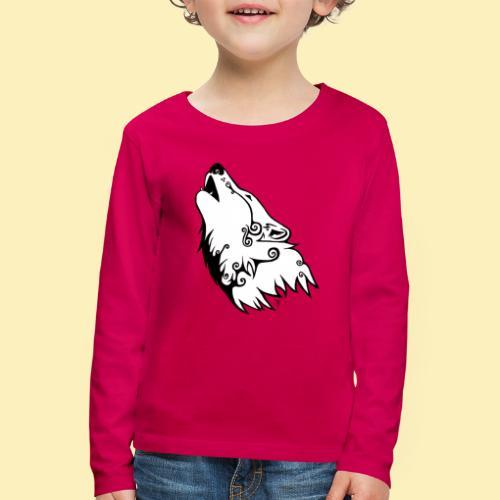 Le Loup de Neved (version blanche) - T-shirt manches longues Premium Enfant